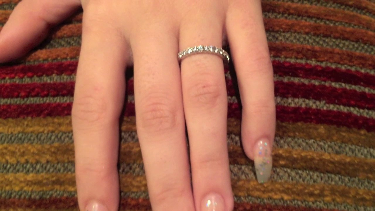 2mm Wedding Band 14k White Gold With Round Cubic Zirconia