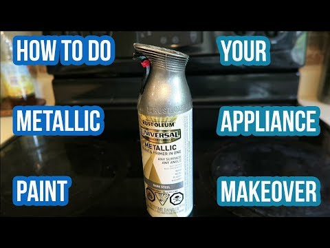 How To Do Metallic Paint | Renovate Existing Appliances | Fridge, Oven, Microwave
