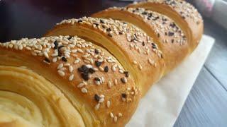 РЕЦЕПТ слоеного БАГЕТА🌿готовится ПРОСТО, а выглядит ШИКАРНО🌿French baguette
