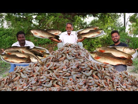 Fish And Shrimp Mixed Gravy Recipe   Fish And Prawns Curry   Mixed Seafood By Grandpa