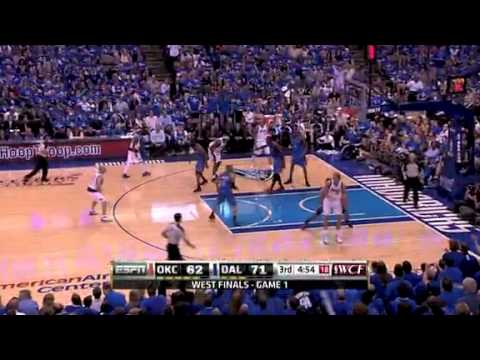 Dirk dropped 48 points on a young Thunder squad in the 2011 WCF.
