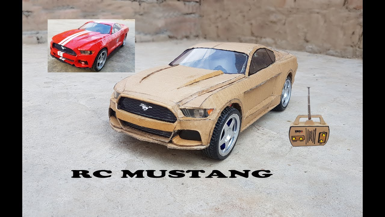 WOW! Super RC Mustang || DIY || Cardboard Ford Mustang ...