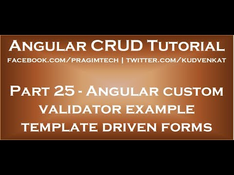 Cheap custom writing validators in angular 2