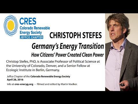 Germany's Energy Transition (Christoph Stefes - 4/28/16)