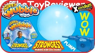 """Super Wubble Bubble Ball with Pump """"Boing Blue"""" Unboxing Toy Review by TheToyReviewer"""