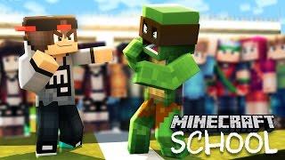 Minecraft School - THE BULLY BEATS UP LITTLELIZARD!