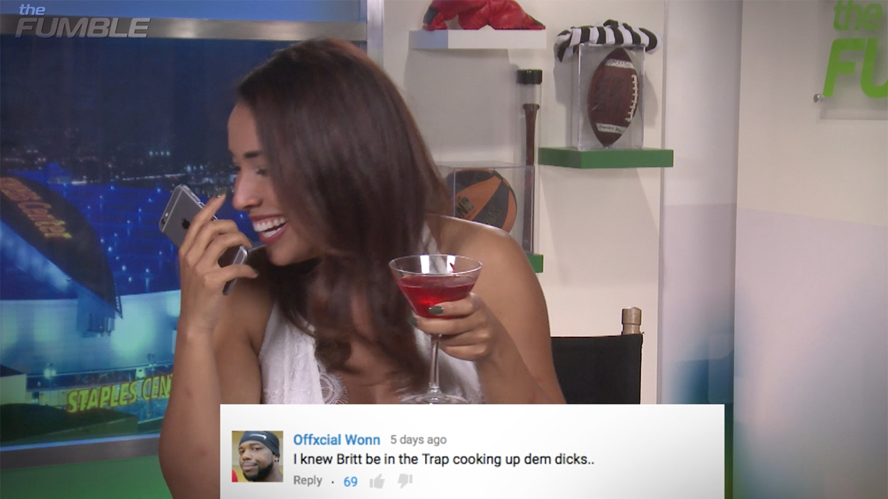 Fumble Fire Back Mean Youtube Comments Featuring Britt Johnson