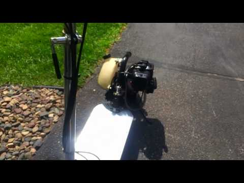Zooma Gas Scooter 33cc Start up, Exhaust, Test Drive
