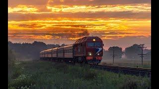 ТЭП70БС-133 с поездом 233Е, перегон Канаш - Рзд 289 км
