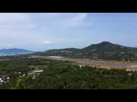 Bangkok Airways Plane Leaving Koh Samui Airport – Thailand