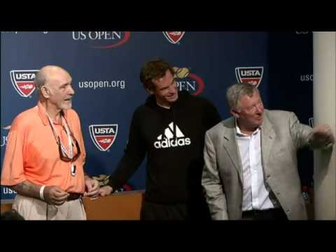 Andy Murray Meets Sean Connery and Alex Feguson