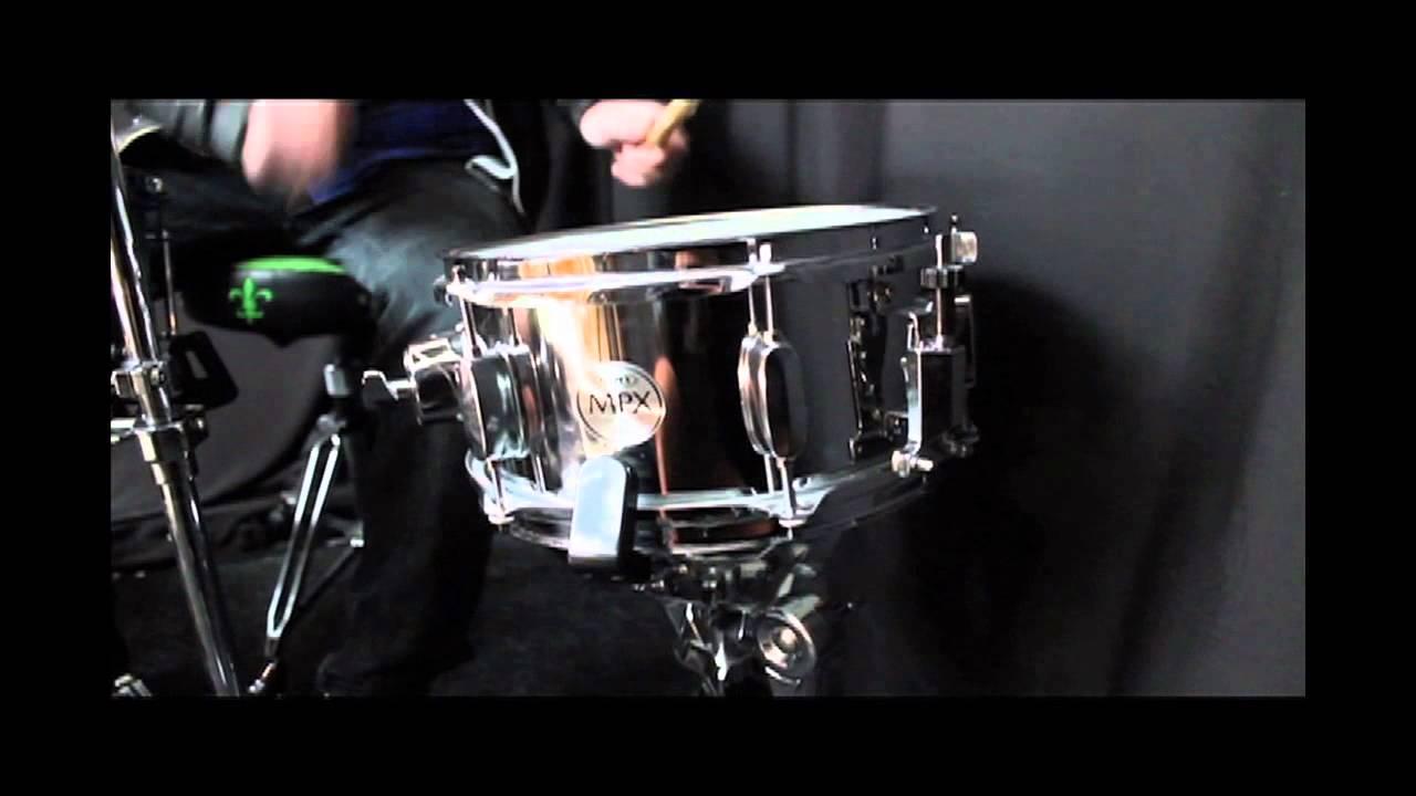 mapex mpx steel 10x5 5 snare drum sound attak youtube. Black Bedroom Furniture Sets. Home Design Ideas