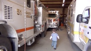 Fire Truck and Fire House Tour! (Episode 318)