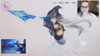 Drawing Ashe the Frost Archer from League of Legends (Copic Illustration) - LONG STREAM