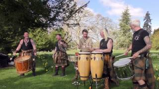 Clann an Drumma, Scotland's premiere tribal band, playing Bizzy Lizzy at Scone Palace, April 2017