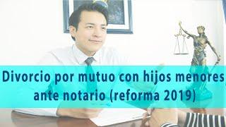 Divorcio Por Mutuo Con Hijos Menores Ante Notario (reforma 2019)