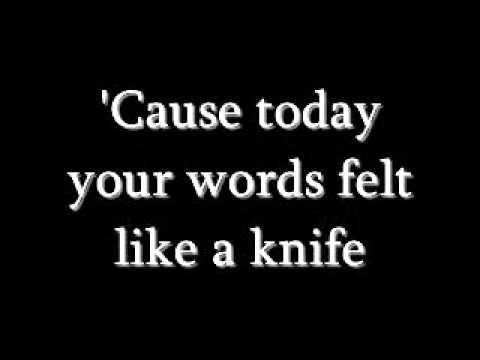 Secondhand Serenade - Like A Knife lyrics