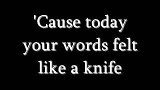 Repeat youtube video Secondhand Serenade - Like A Knife lyrics