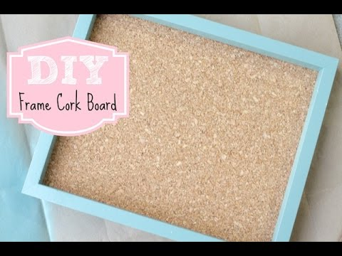 diy frame cork board for home or office youtube. Black Bedroom Furniture Sets. Home Design Ideas