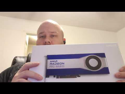 Download AMD Radeon Pro W6800 32GB GDDR6 ECC - Unboxing, Installation & Benchmarks