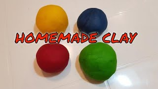 Homemade clay with White Flour