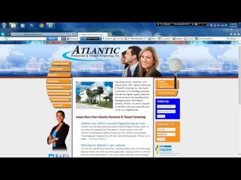 Atlantic Personnel Screening's online ordering demonstration