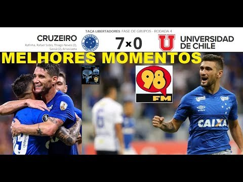 CRUZEIRO 7 x 0 UNIVERSIDAD DE CHILE & Bom Humor 98FM - Melhores Momentos - Libertadores 2018 4ª Rod.