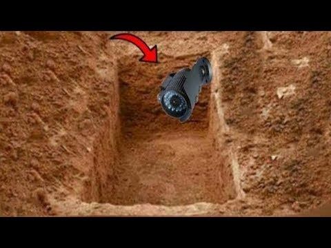 THEY HAVE SET A CAMERA IN A GRAVE .. SAVE WHAT THEY HAVE FILMS