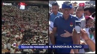 Pendukung Jokowi-Ma'ruf Penuhi SICC | Sandiaga Disambut Warga Badung, Bali - iNews Sore 24/02