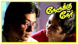 Vijay New Movie 2017   Nerukku Ner Movie Scenes   Shanti Krishna leaves Raghuvaran   Suriya