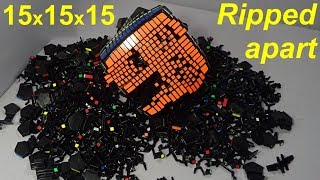 15x15x15 *RIPPED APART* - MoYu 15x15 Rubik's Cube puzzle disassembly