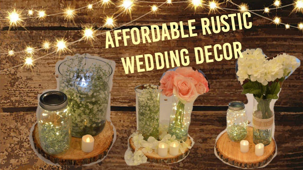 Affordable Rustic Wedding Decor