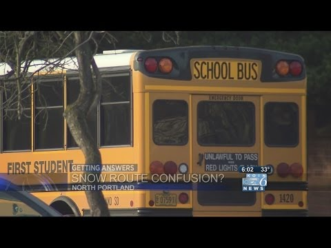 School bus routes change with weather