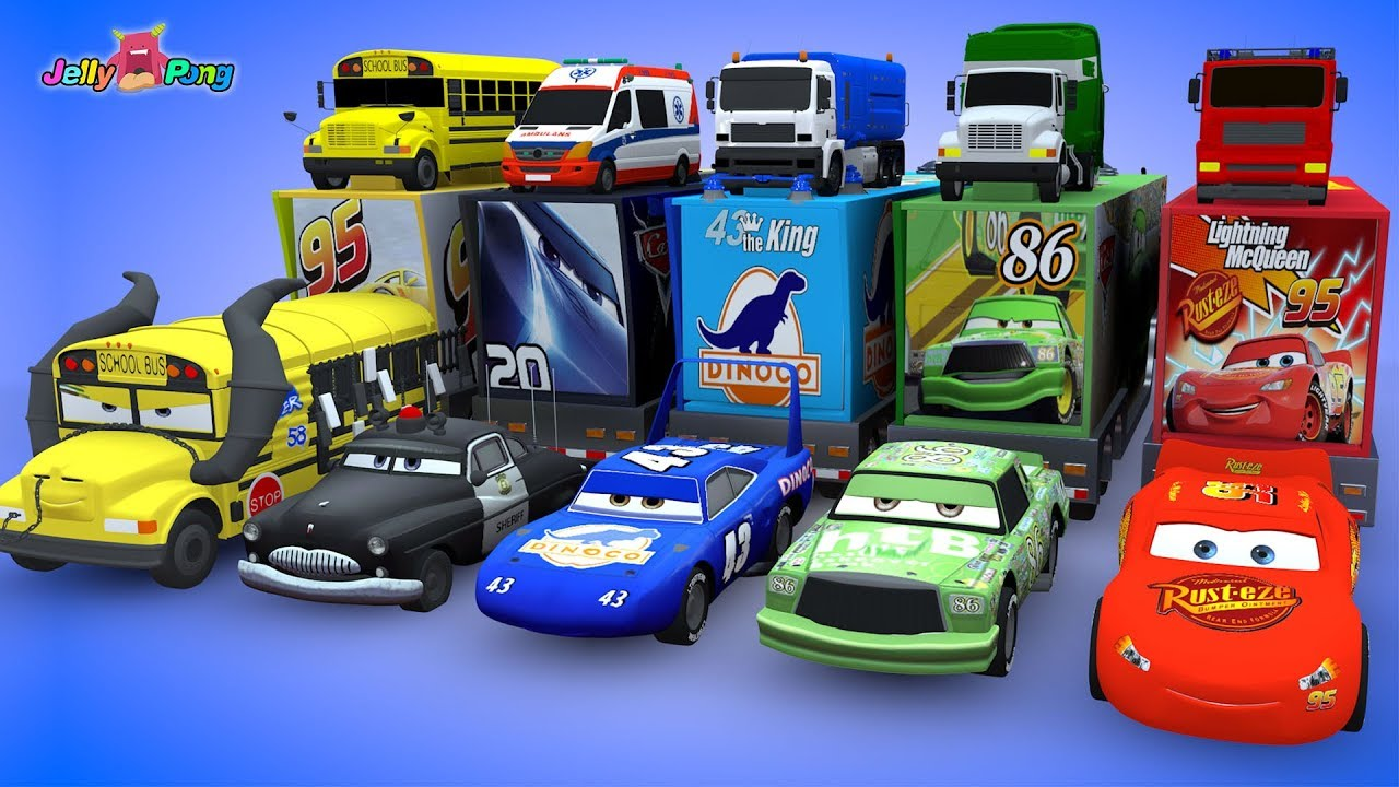 Car Youtube: Learning Color Disney Pixar Cars Lightning McQueen
