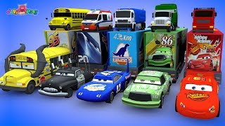 Learning Color Disney Pixar Cars Lightning McQueen Transforming magic Tunnel Play for kids car toys thumbnail