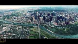 4K Calgary Downtown Aerial