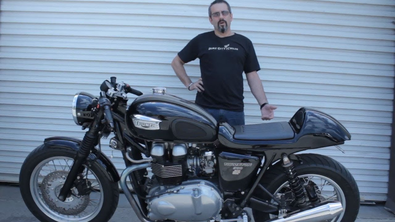 dime city cycles herm narciso s 2004 triumph thruxton youtube