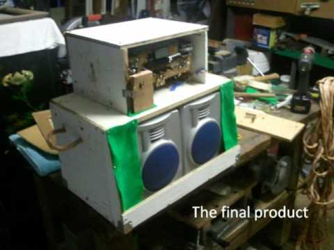 building guitar amp out of an old broken radio youtube. Black Bedroom Furniture Sets. Home Design Ideas