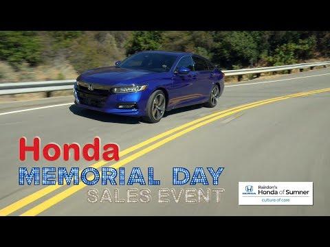 Honda Memorial Day Sales Event | Specials, Deals, & Offers | Rairdon's Honda of Sumner