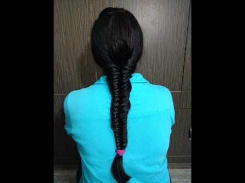 Khajuri Choti Hair Style In Hindi 2018 How To Fish Tail Braid Tutorial खज र च ट क स बन य