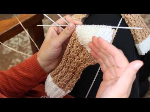 Вязание носков. Ажурные узоры.