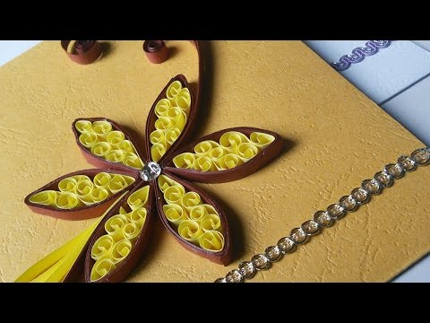 Quilling Greeting Cards | Easy Paper Work | HandiWorks #14