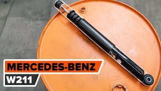 Hvordan bytte bak støtdemper der på MERCEDES-BENZ W211 E-Klasse [AUTODOC-VIDEOLEKSJONER]
