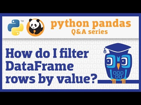 How do I filter rows of a pandas DataFrame by column value?