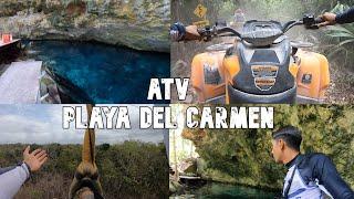 Playa Del Carmen Tour Cuatrimotos + Tirolesas Y Cenote