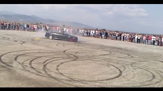 BMW E36 328i Cabrio Drift Burnout Donuts