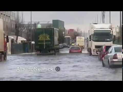 Porriño inundado tras las fuertes lluvias