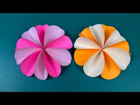 How to make Paper flower   วิธีทำดอกไม้กรดาษแบบง่าย   Meedee DIY