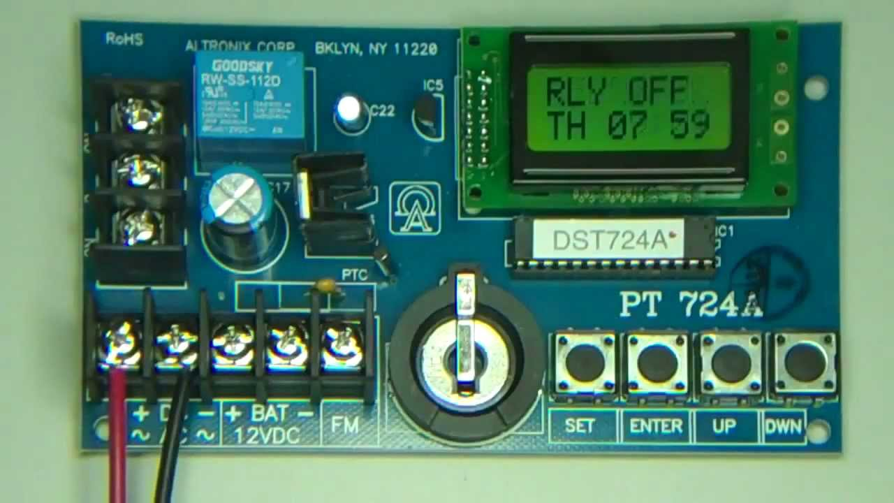 hight resolution of pt724a timer mp4