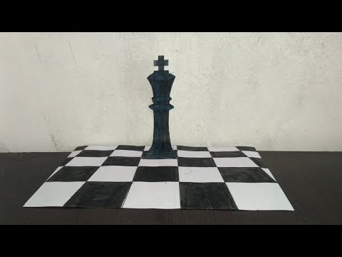 How to Draw 3D Chess King || By KANGNI ARTS ||